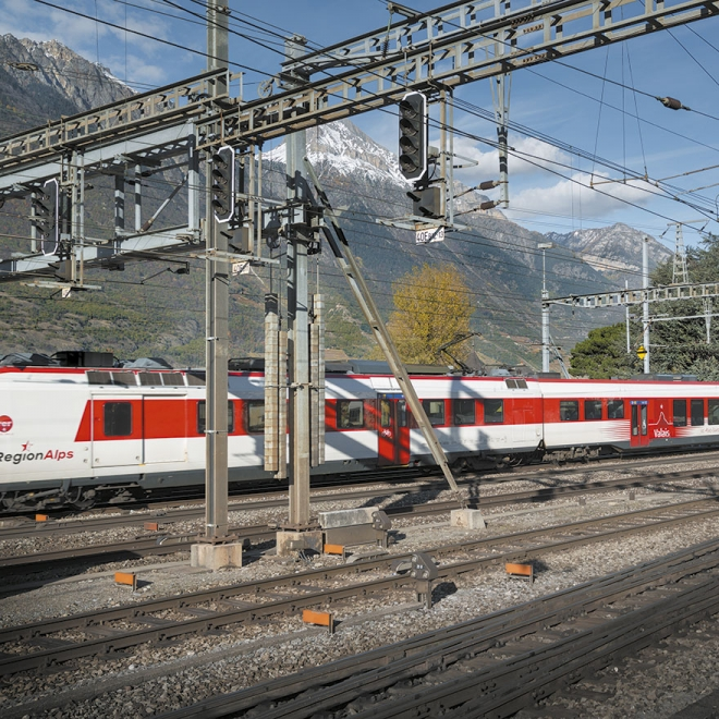 Gare de Martigny | 07.11.2013 | 15h25 - Photo © Roh Jean-Claude