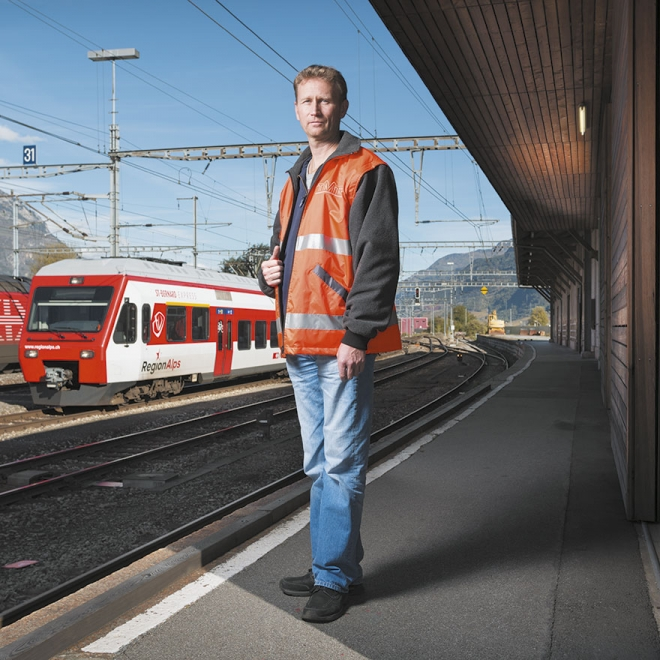 Laurent Tschannen, Maintenance | Gare de Martigny | 07.11.2013 | 14h42 - Photo © Roh Jean-Claude